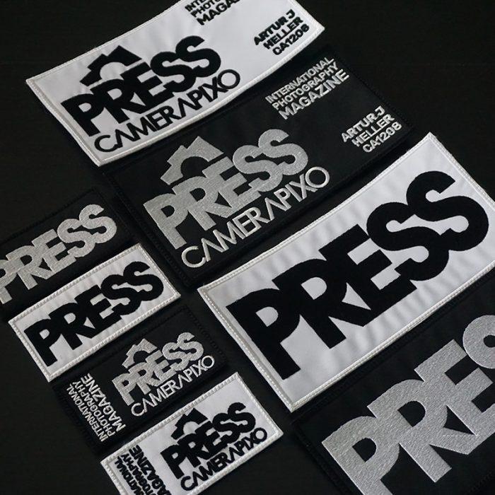 camerapixo personalized press badge on velcro