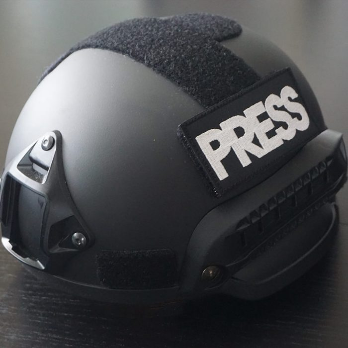 press helmet