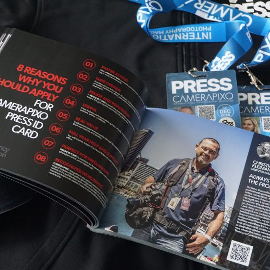 Press cards for freelance videographers and photojournalists