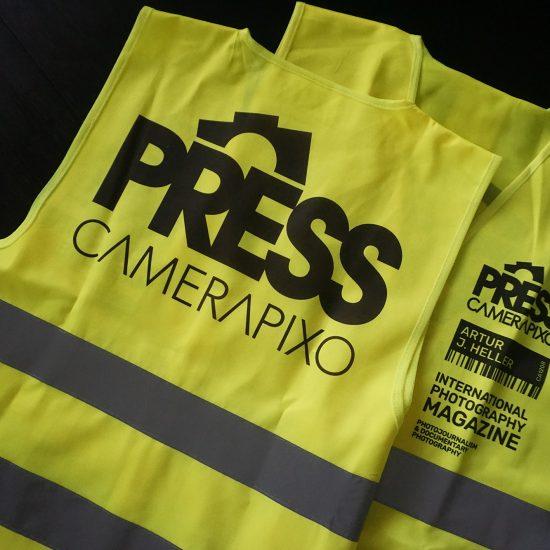 personalized press yellow vest