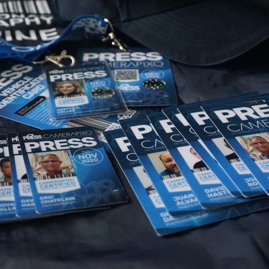 Press card passes for video journalists and bloggers