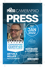 Camerapixo Press ID Card - small card - sample
